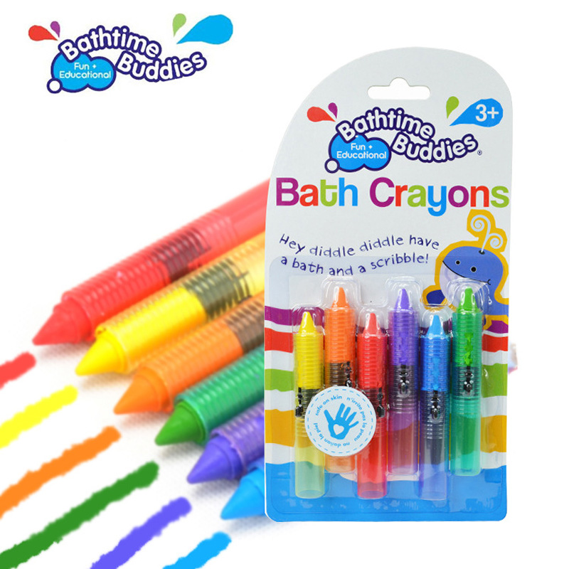 Safe Baby Kids Bathtime Crayons Drawing Toy Bath <font><b>Playing</b></font> Early Educational Toys juguetes brinquedos jouet de bain