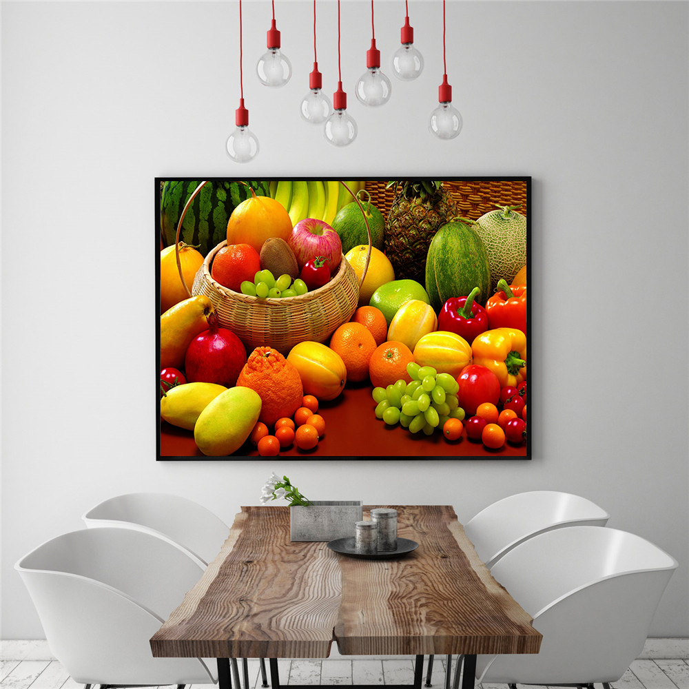 Aliexpress Com Buy Kitchen Decor Food Quote Canvas: Green Fruits Lemon Wall Art Pictures Food Painting Kitchen