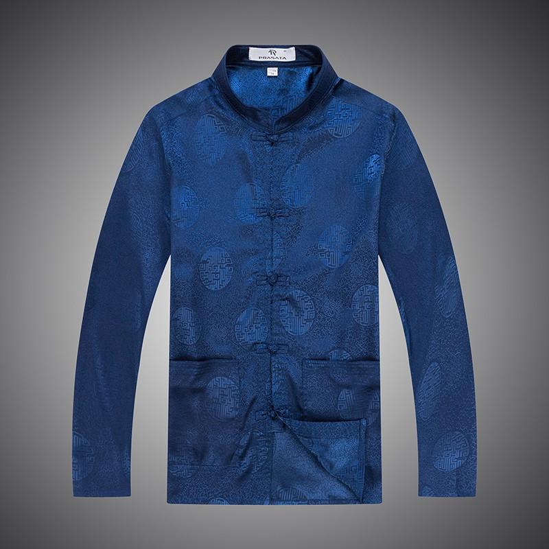male cotton cheongsam blouse oriental clothes long sleeve cotton cheongsam blouse traditional mens clothes (4)
