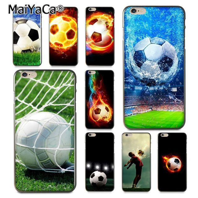 brand new 192b6 d4daa US $1.49 25% OFF|MaiYaCa Fire Football Soccer Ball Field Cool Phone  Accessories Case for Apple iPhone 8 7 6 6S Plus X 5 5S SE 5C Cover-in  Half-wrapped ...