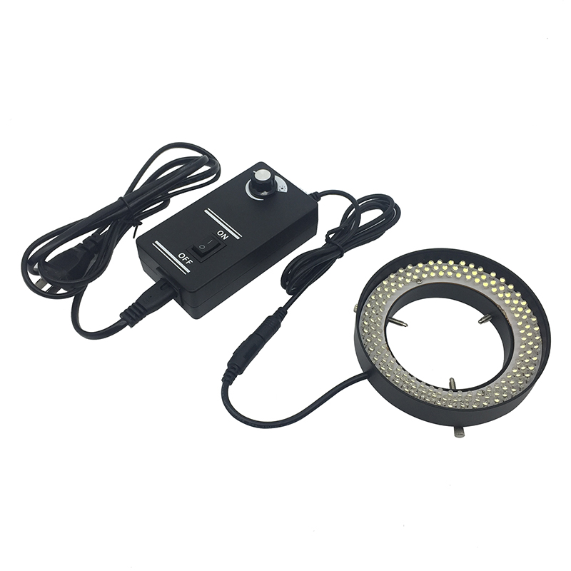 144pcs LED Ring Light Source 72 mm Inner Diameter Brightness Adjustable LED Light for Stereo Microscope Illumination White Light
