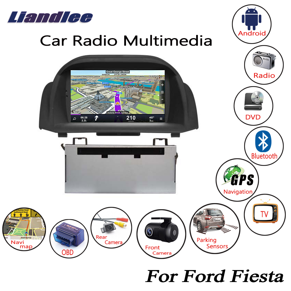 Liandlee For Ford Fiesta 2008~2019 Android Car Radio CD DVD Player GPS Navi Navigation Maps Camera OBD TV HD screen Multimedia liandlee for ford edge 2011 2014 wince car radio cd dvd player gps navi navigation maps camera obd tv screen multimedia