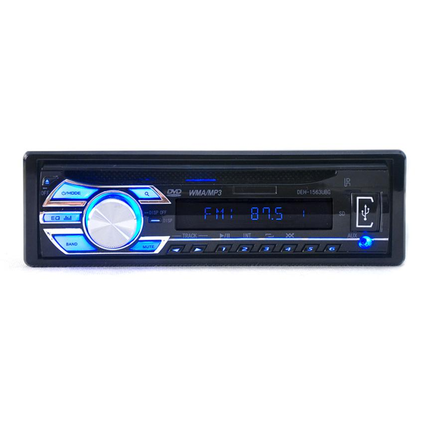 Car Audio Stereo 12V USB SD Mp3 Player AUX DVD CD Player Remote Support mute and equal loudness control jul11