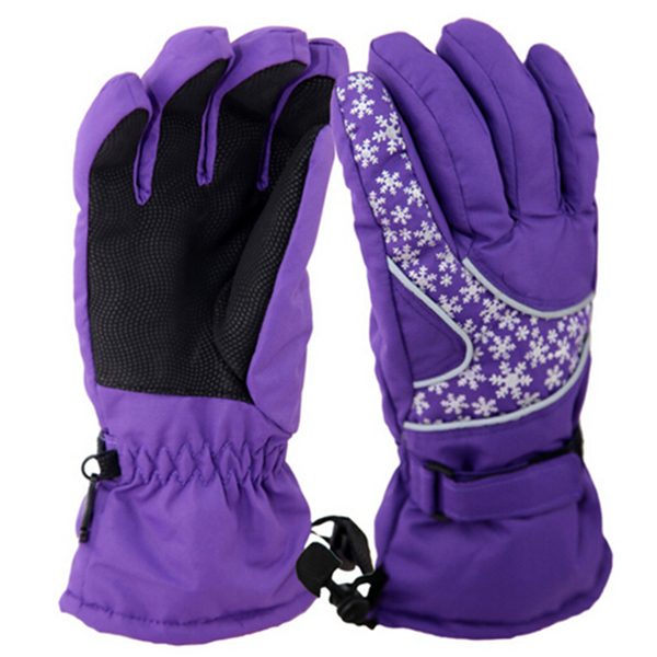 Winter Ski Gloves Warm Skiing Snowboard Snowmobile Motorcycle Riding Sports Windproof Waterproof Gloves For Woman GL013