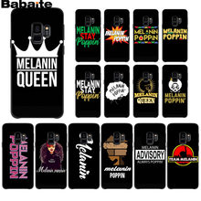 Babaite Afro Melanin Poppin Queen High Quality Phone Case for Samsung S9 S9 plus S5 S6 S6edge S6plus S7 S7edge S8 S8plus(China)