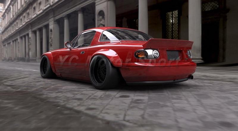 Mazda Miata Parts >> Car Accessories FRP Fiber Glass NA Pandem Style Rear ...