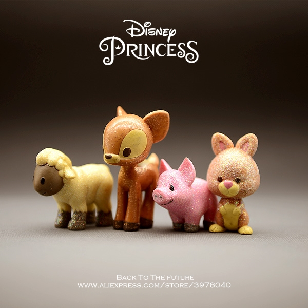 Action & Toy Figures Disney Cinderella Princess Pug-dog Cartoon 9cm Mini Doll Action Figure Anime Mini Collection Figurine Toy Model For Children