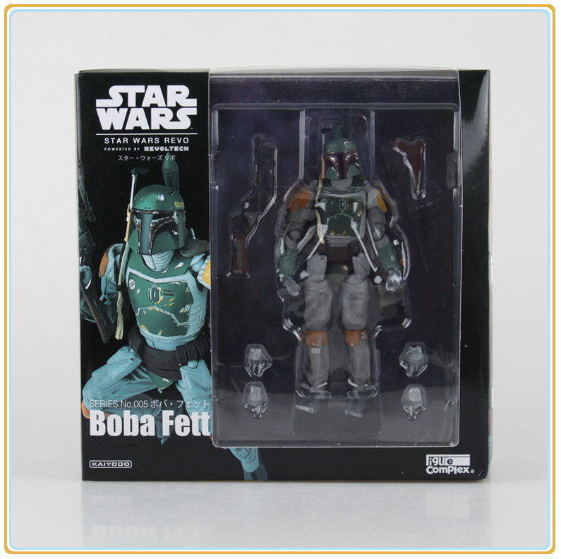 Star Wars REVO 005 Boba Fett PVC Action Figure Collectible Model Toy 16cm Free Shipping  funko pop star wars boba fett 08 pvc action figure collectible model toy 12cm fkfg126 retail box sp050