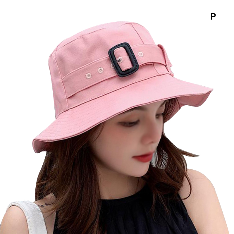 Women Personality Sunscreen Casual Solid Color Portable Travel All match Bucket Hat in Women 39 s Bucket Hats from Apparel Accessories