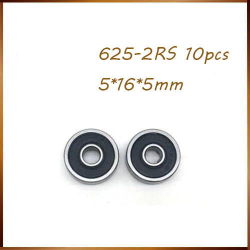 10pcs/Lot <font><b>625</b></font>-2RS <font><b>625</b></font> <font><b>RS</b></font> 5x16x5mm Rubber Sealed Ball <font><b>Bearing</b></font> Miniature <font><b>Bearing</b></font> Brand New image