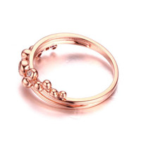 New hot sale cute 18k gold rings for women lady cute hot charms fashion jewelry drop shipping lovely grape beads ring 2.55G