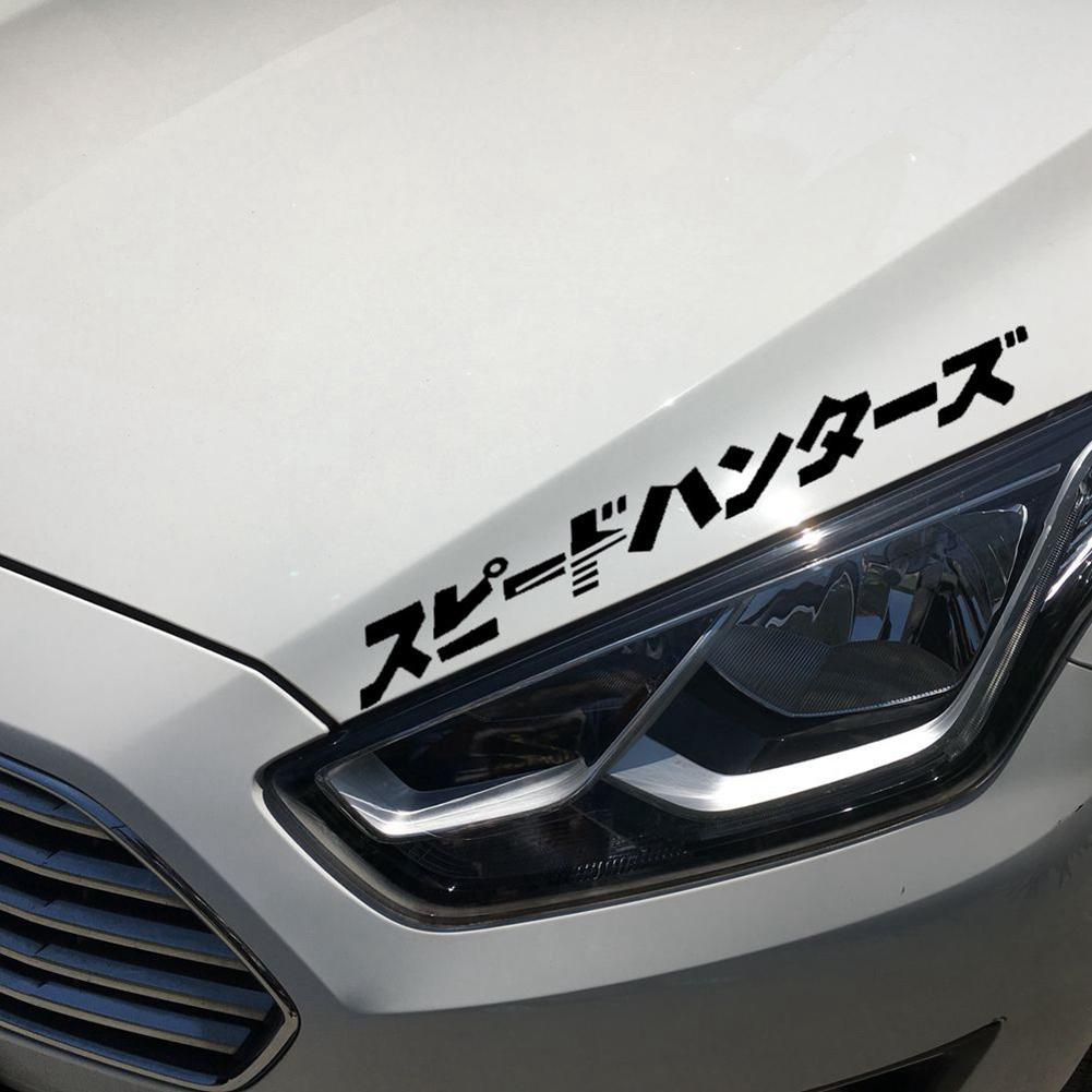 Japanese JDM Speedhunter Car Sticker Headlight Hood Reflective Decals Decor Car Sticker