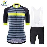 FUQVLUN Women Cycling Jersey Set 2019 Summer Anti UV Cycling Clothing Racing MTB Bike Clothe Bicycle Cycling Clothing