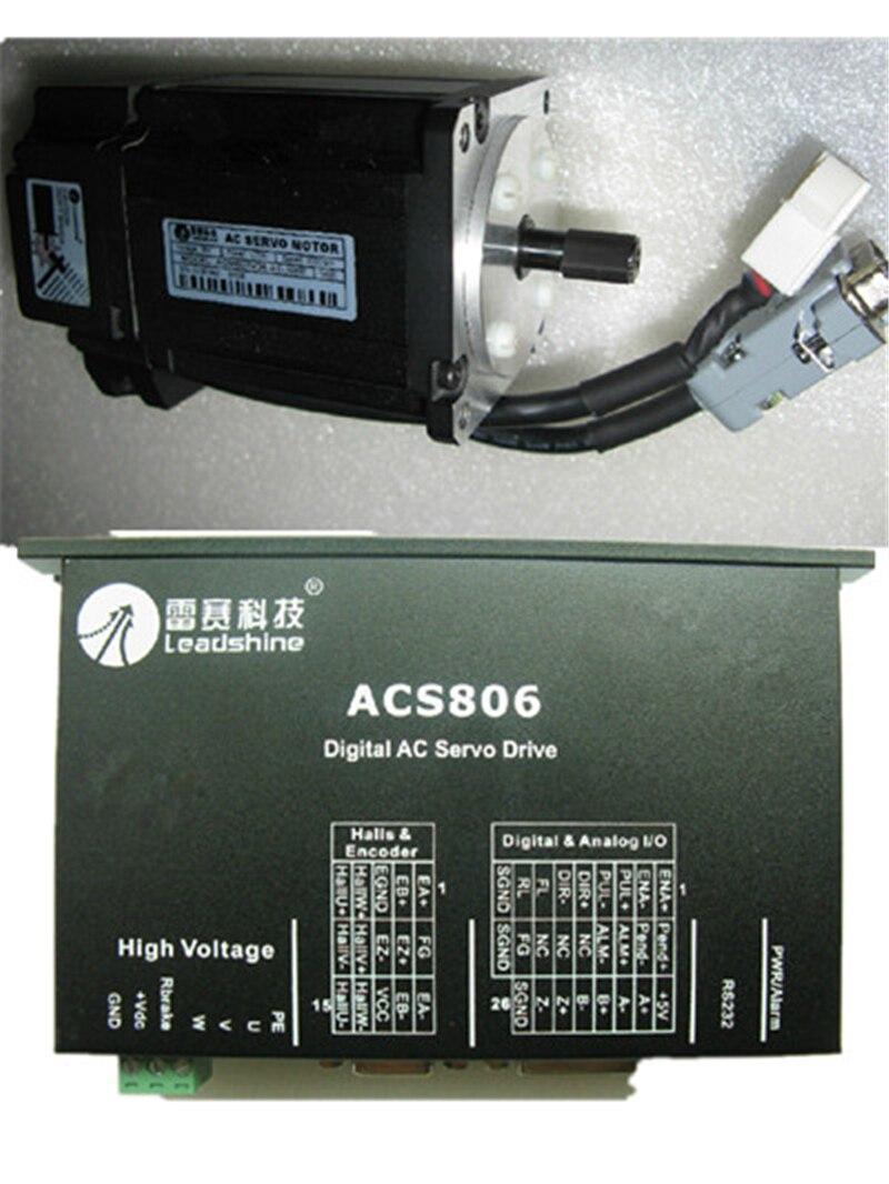 Mid&Low-voltage Servo Motor Drive 100W 4A 0.32NM 1000ppr 20~80VDC ACM601V36-01-1000+ACS806 ac servo motor 36 80vdc 8 4a 25a for servo drive acs806 brushless ac servo motor acm602v36 01 2500
