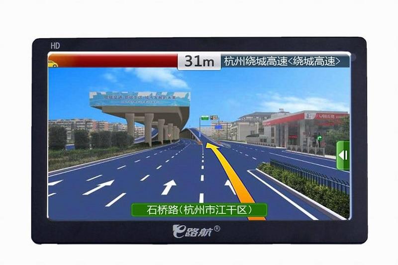 Автомобиль GPS 7 дюймов HD Dual Core 8 ГБ Портативный автомобиля GPS спутниковой навигации Автомобильные GPS-навигаторы Bluetooth Портативный Автомобильн...
