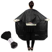 2PCS Hair Salon Cape &Neck Duster, Black Head Hairdressing Cape For Adult, Hair Cutting Cape For Professional Salon Tool(China)