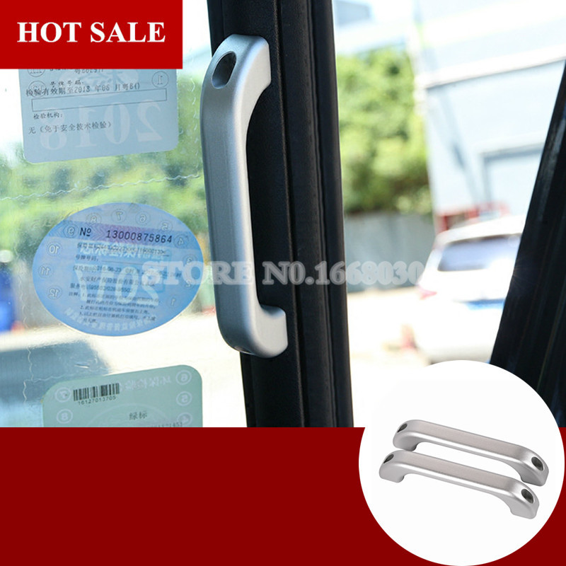 Inner Front Grab Handle Cover 2pcs For Land Rover Defender 90 110 2009-2015 2pcs for land rover defender 110 for landrover defender 90 car interior matte chrome aluminum alloy grab handle trim accessories