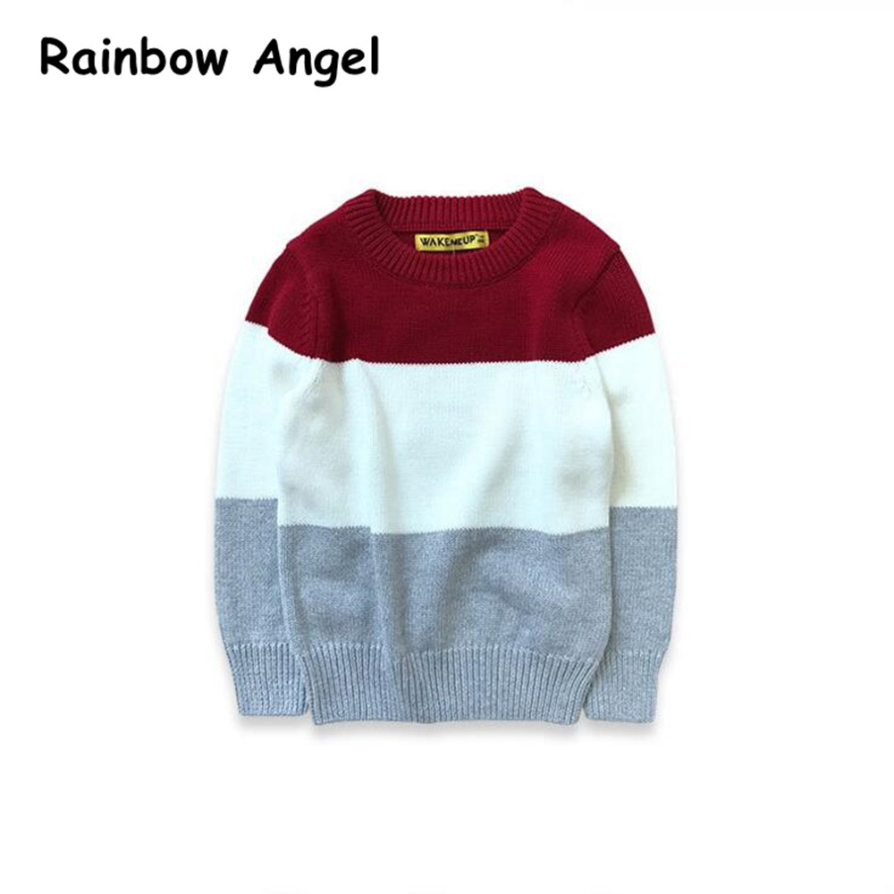 Autumn Baby Boys Sweater Toddler Boys Long-Sleeve Jumper Knitwear Patchwork Pullover for Boys High Quality Childrens Clothing ...