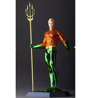 DC Cartoon Justice League Superhero Arthur Curry Aquaman Trident Of Poseidon PVC Action Figure Collection Model Toy G1113