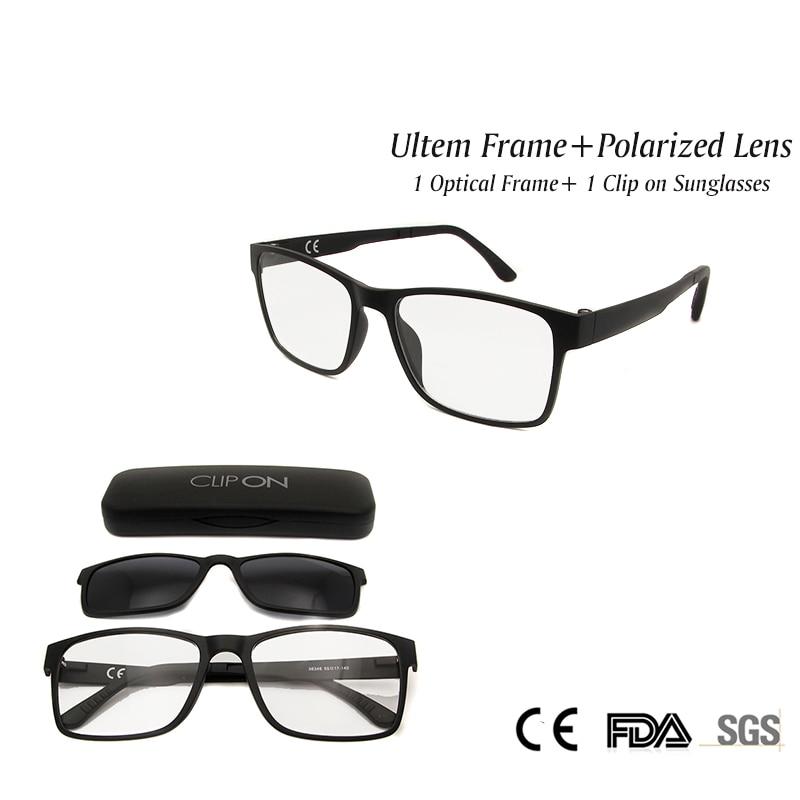 53cc1cf251 Gafas nuevo clip magnético en Gafas de sol polarizadas lente ultem Monturas  de gafas mujeres hombres unisex claro lente moda UV400 sombra en De los  hombres ...