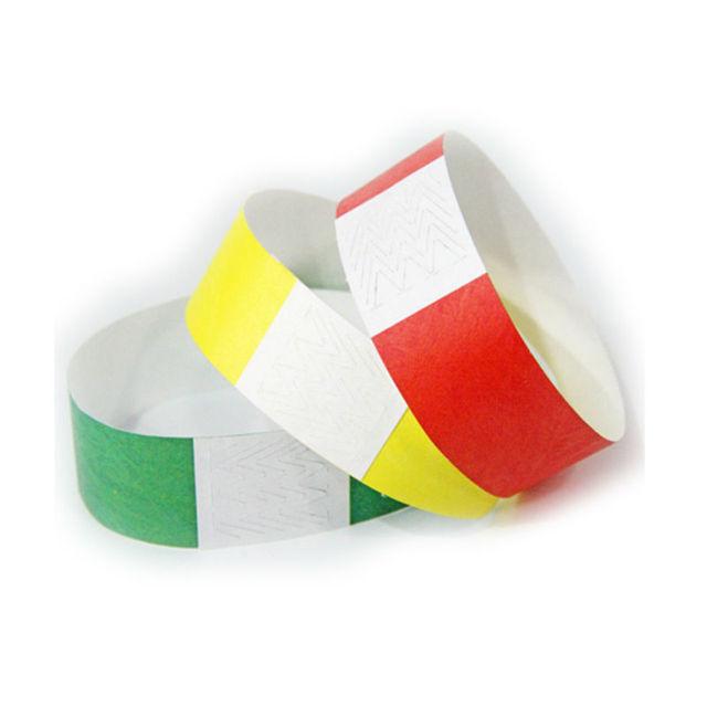 4baa51f21e76 100 piezas unids desechables varios colores disponibles pulseras de papel  para eventos