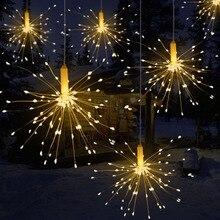 DIY открытый водонепроницаемый Рождественский светодиодный гирлянды фейерверк на батарейках декоративные сказочные огни для гирлянды Патио Свадьбы