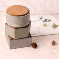Store content box silicone mold desktop receive jewelry box cement concrete mould by hand