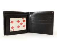 Fire Wallet In Black Color Magic Trick Free Shipping Money Magic Tricks Fire Props Comedy Ring