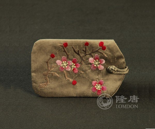 2012 Oriental desgin brown buiness card Holder/Name Card/ID Holder/Mobile Phone Bag/Cases/Embroidery/Handcraft/National look