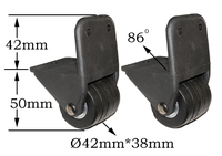 Replacement suitcase trolley Bag Luggage wheels L010