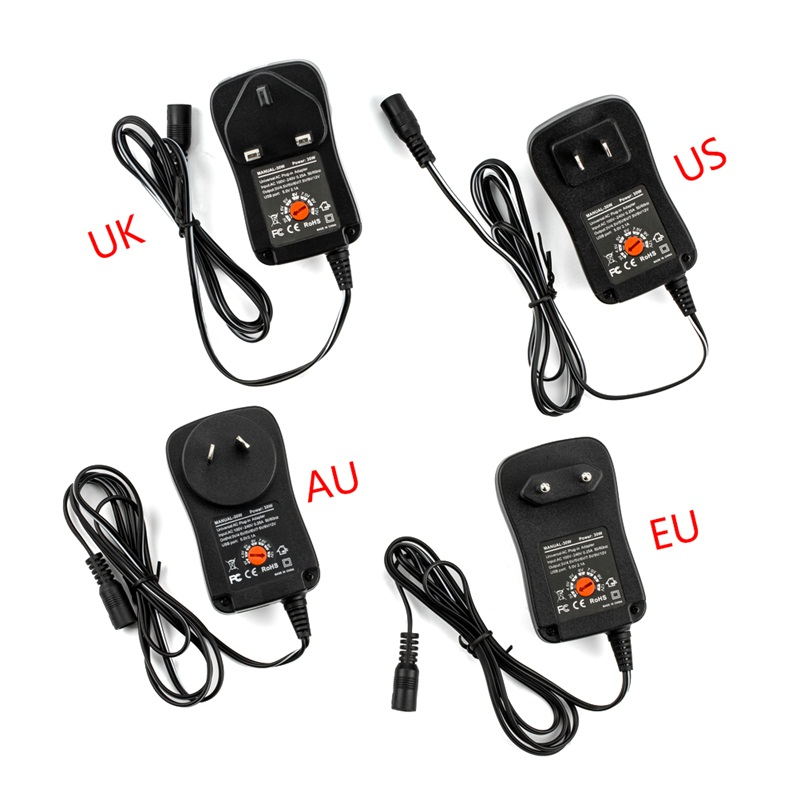 3V <font><b>4.5V</b></font> 5V 6V 7.5V 9V 12V 30W <font><b>AC</b></font> DC <font><b>Adapter</b></font> Adjustable Power Supply Adaptor Universal Charger For Led Strip Camera Mobile Phone image