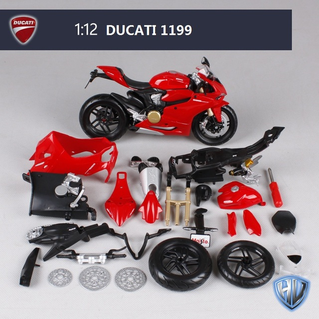 Ducati 1199 Motorcycle Model Building Kits 1/12 Assembly Model Motorcycle Gift Toy motorcycle Kids Motorcycle Toys Kids Toys DIY