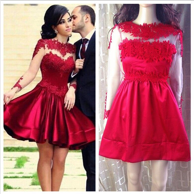 Long red lace dress ebay