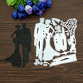 1 шт. Свадебные парные металлические режущие штампы трафареты для поделок Скрапбукинг декоративное тиснение бумажные карты ремесленные штампы - фото