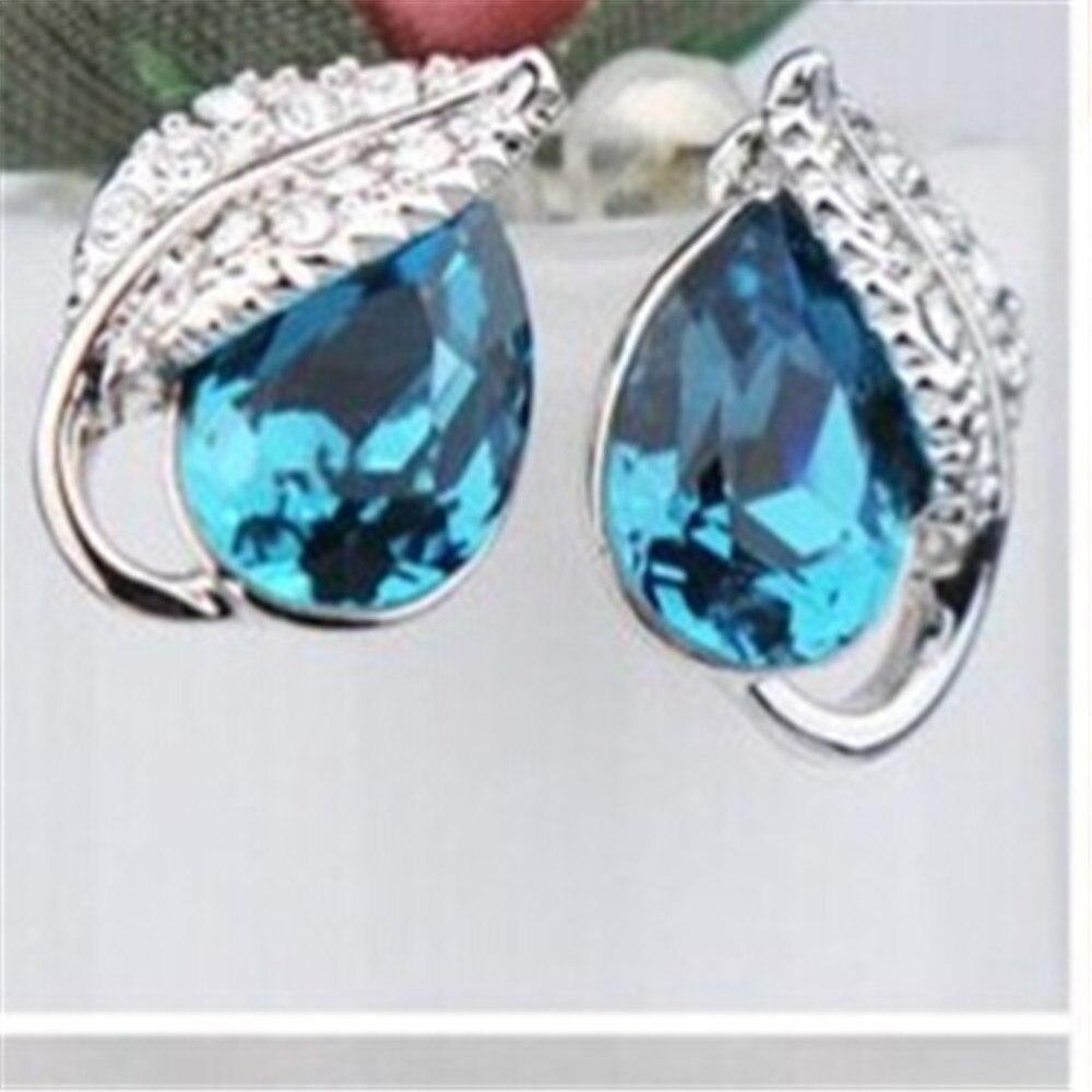 Серьги в виде кристаллов, лист акации, женские роскошные дизайнерские украшения|gift gifts|gift girlfashion jewelry | АлиЭкспресс