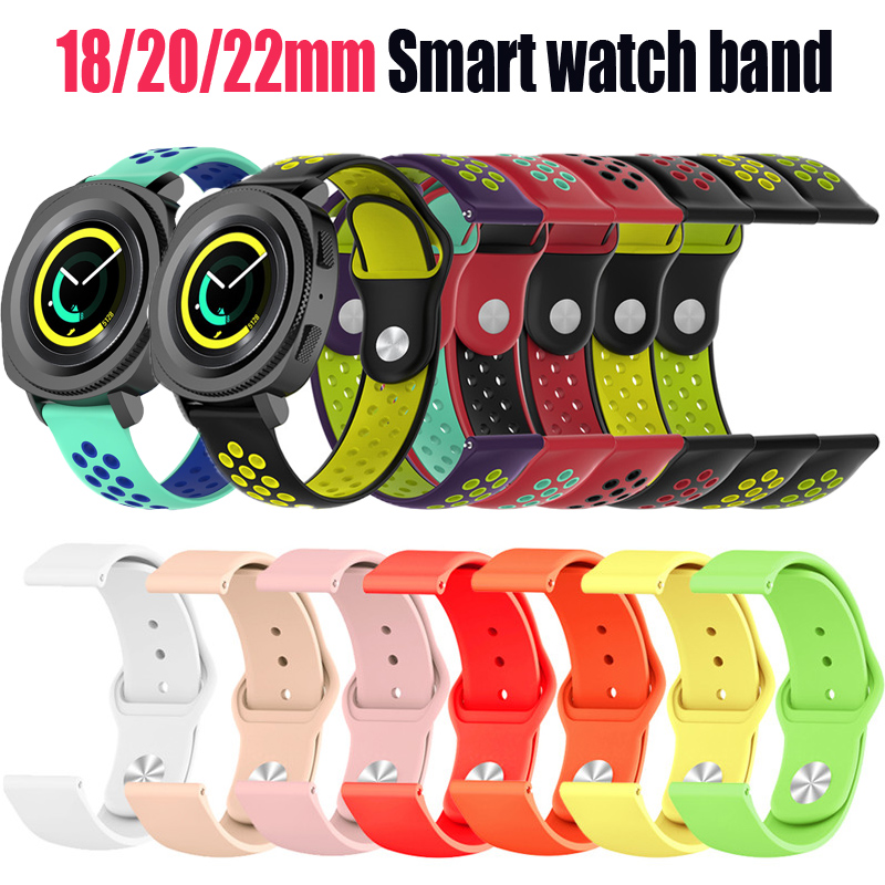 22mm Fitness Silicone Strap For Samsung S3 Classic 20mm For Gear S2 Replacement Strap Wristbands Of Huawei
