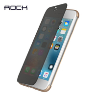 Original ROCK Brand Dr V Smart Transparent Window Flip Case Plastic Back Cover Case For IPhone