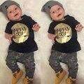 Новый 2016 Новорожденный Мальчик Одежды Летом Bebek Giyim Дети Дети Комплект Одежды Roupa Infantil Bebes 2 шт. Roupas Infantis Menino