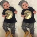 Novo 2016 Roupas Bebê Recém-nascido Menino Bebes Verão Bebek Giyim Crianças Roupa Das Crianças Set Roupa Infantil 2 pcs Roupas Infantis Menino