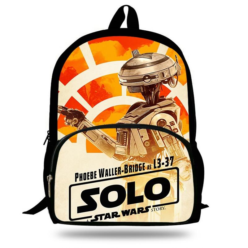 Gepäck & Taschen Neuheiten Schul 3d Solo Eine Star Wars Story Druck Teenager Jungen Studenten Rucksack Täglichen Laptop Rucksack Große Kapazität