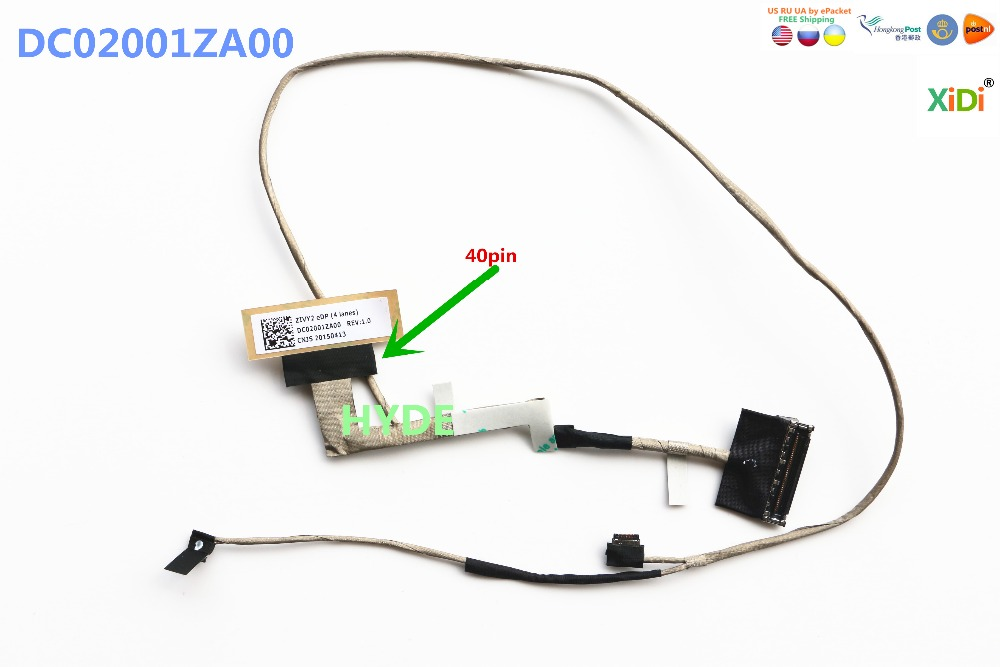 NEW FOR LENOVO Y50 LCD LVDS CABLE DC02001ZA00 ZIVY2 EDP 40 PIN