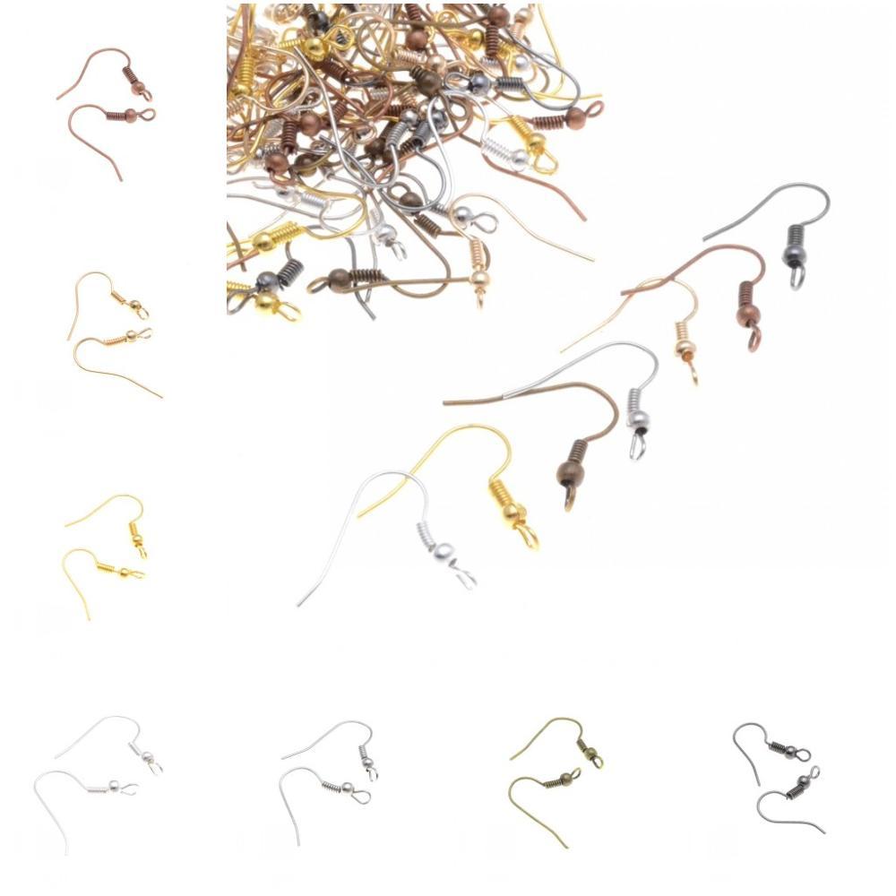 Resultados Da Jóia Diy 20 MIAOCHI * 18mm Ouro/Prata/Bronze/Tom Silver Cross Estilo Brinco Ganchos para Fazer Jóias