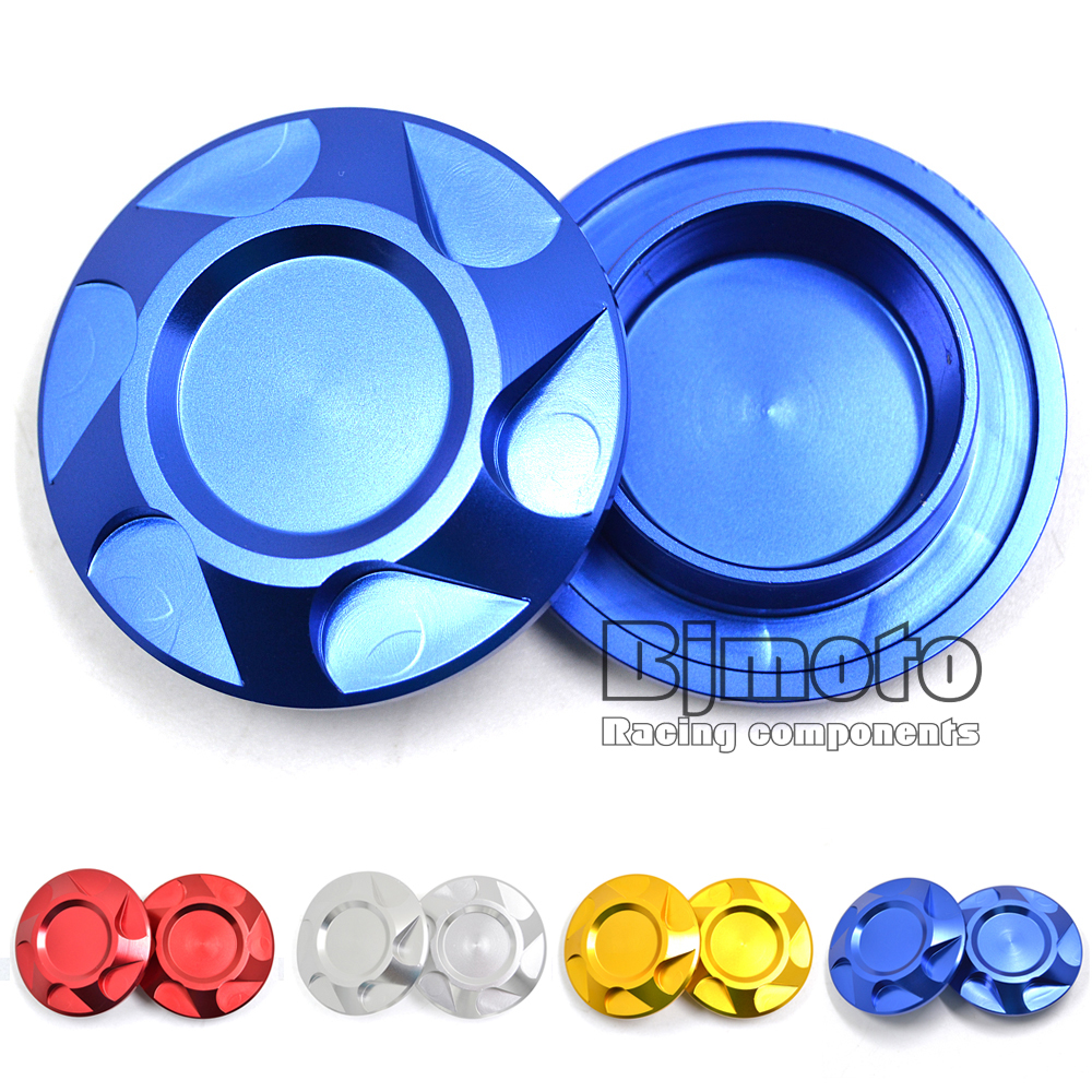Motorcycle Aluminum Frame Hole Cover Caps Blue For Yamaha YZF R3 2015 2016 R25 2013 2014