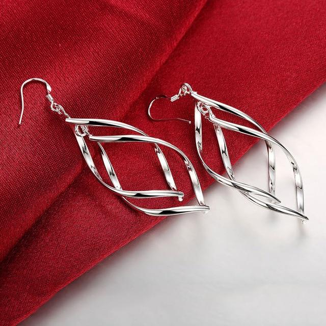 2020 New Arrival 925 Silver Jewelry Women High Quality Long Earrings Hanging Drop Earring Jewelry 2