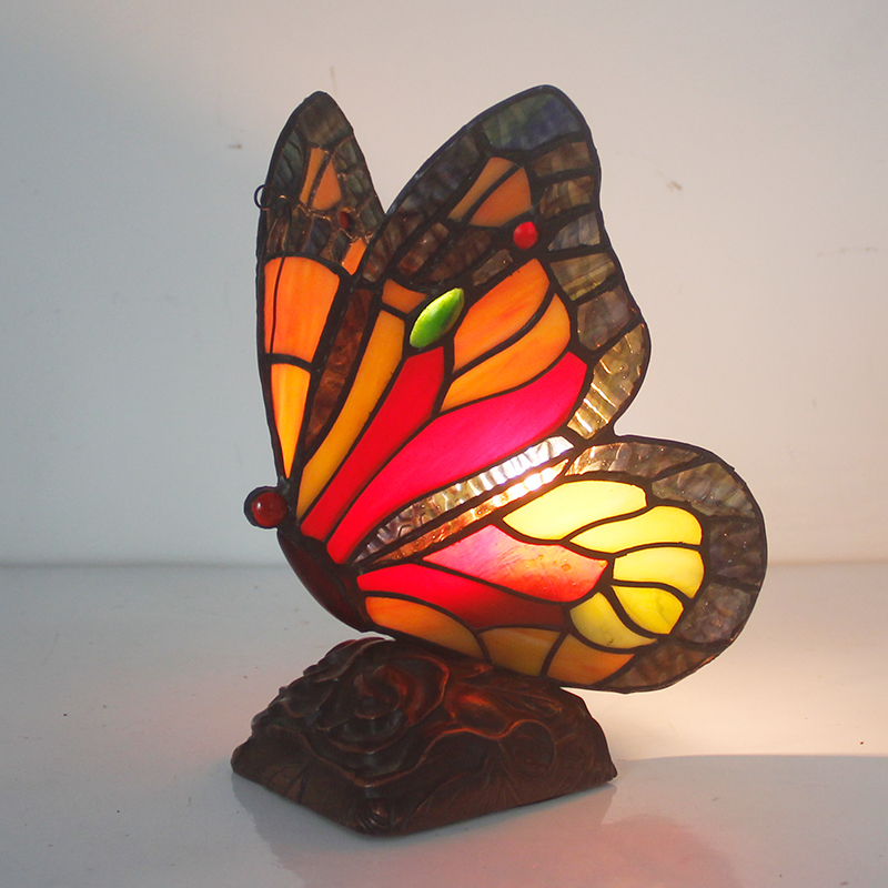 Легкий стиль гостиная, спальня украшения настольная лампа ночники домашнего интерьера бабочки ручной работы DF22