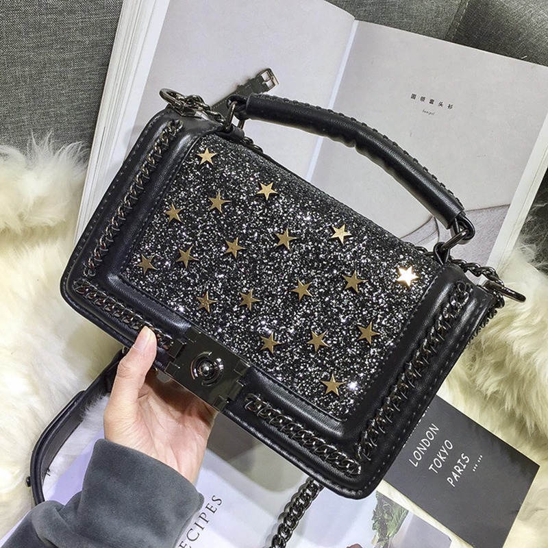 Très 2017 Women Quilted Chain Bags Double use Message Bags Famous Brand  GV04