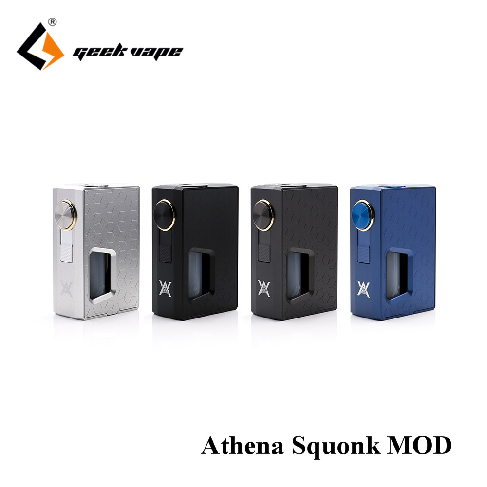In stock Original GeekVape Athena Squonk Mod with 6.5ml Squonk Bottle Electronic Cigarette Weipa Support Squonk RDA TANK original geekvape athena squonk kit 6 5ml bottle with athena squonk mechanical mod geekvape athena rda 18650 vape kit