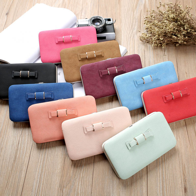 Fashion Women Clutch Purse PU Leather Wallet Card Holders Cellphone Pocket Money Bag Gifts WML99