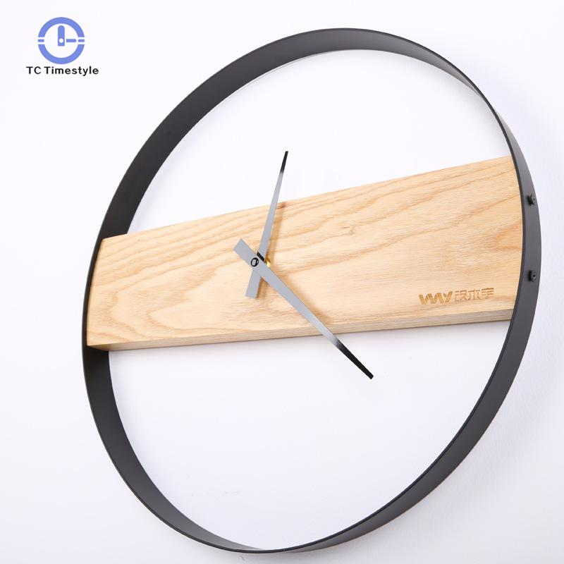 Wooden Wall Clock Minimalist Nordic Clocks Home Decorate Bedroom Livingroom Ultra quiet Wood Wall Watches duvar