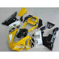 plastic fairings set for YAMAHA R1 2000 2001 yellow white black fairing kit YZF R1 00 01 body kits Injection molding 3153